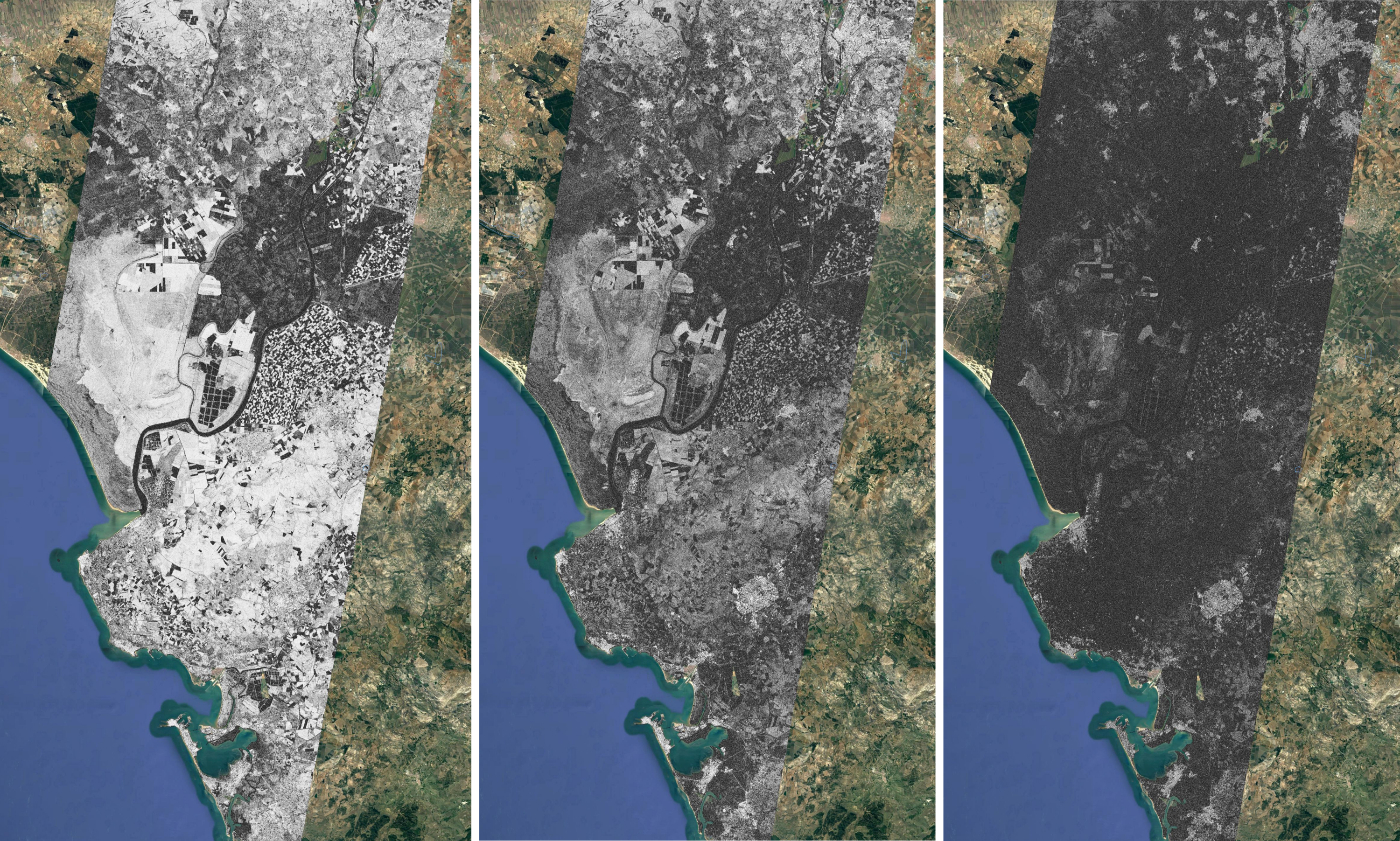 Interferometric coherence evolution over Doñana (Spain)