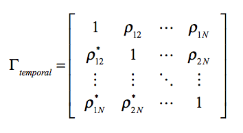 Multi-temporal covariance matrix